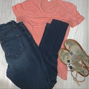 Standard James Perse size 1 coral tee shirt